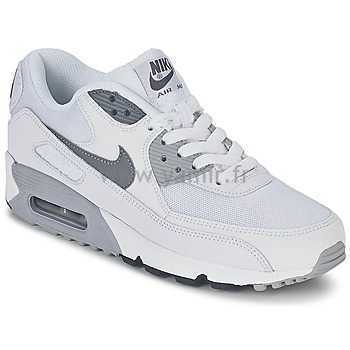 nike air max 90 essential sneakers basses femme, Baskets basses Femme Nike AIR MAX 90 ESSENTIAL Blanc/Gris